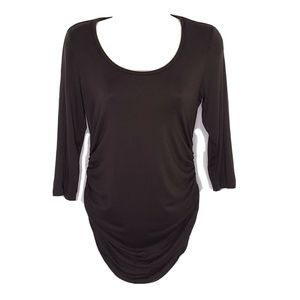 A Pea In The Pod Maternity Top S Gray 3/4 Sleeve